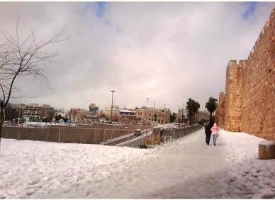 Old City, Jerusalem in the snow