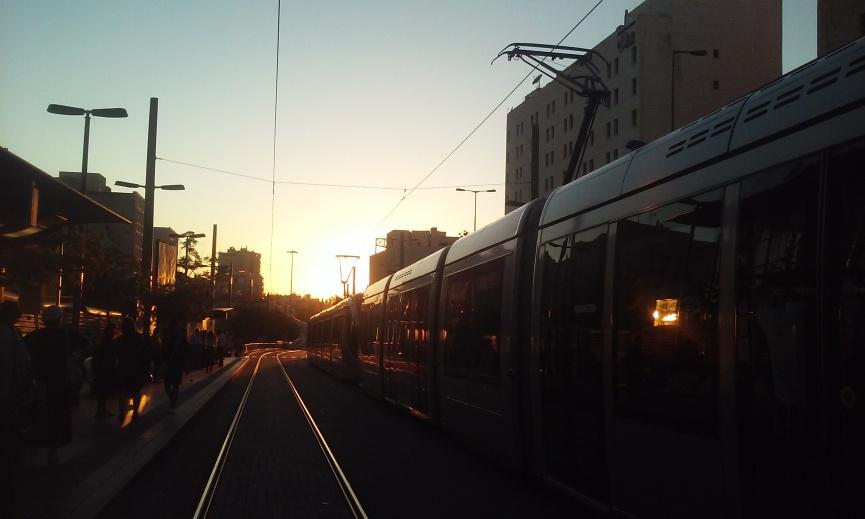 Central Bus Station Light rail tracks